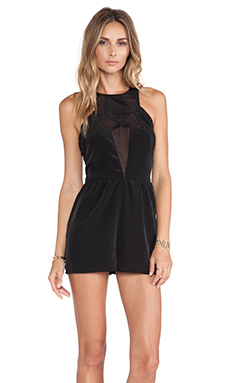 NBD Date Night Romper in Black