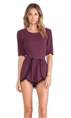 NBD Um Yes Romper in Dark Purple