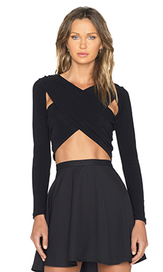 NBD Confession Crop Top in Black