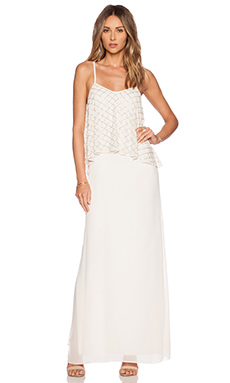 ROBE MAXI TIERED GEO