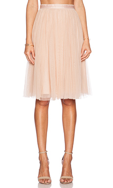 Needle & Thread Tulle Midi Skirt in Dust Peach