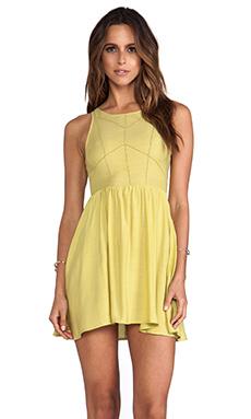 NEUW Hikari Dress in Chartreuse
