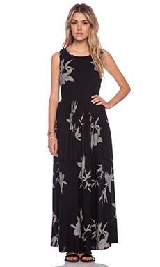 NEUW Blue Orchid Maxi Dress in Black
