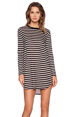 NEUW Linen Rebel Dress in Black & White Stripe