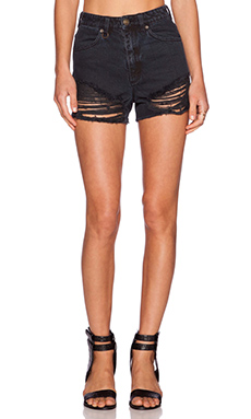 NEUW Lola Short in Busted Black