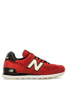 New Balance Made in USA US574 in Red/Black