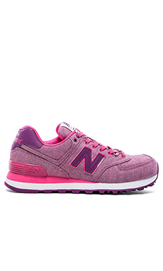 New Balance 574 Glitch Collection Sneaker in Pink Glo