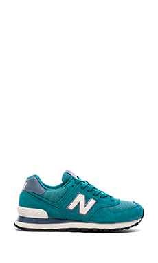 New Balance 574 Pennant Collection Sneaker in Teal & White