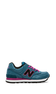 New Balance Precious Metals Collection WL574MBR in Blue/Rasberry