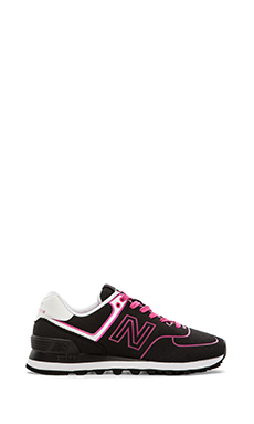 New Balance Neon Collection WL574NEN in Black/Pink