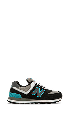 New Balance Core Plus Collection WL574SNB in Black & Blue