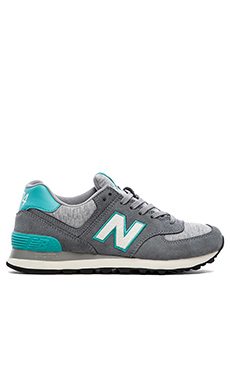 New Balance Pennant Collection in Grey & Teal