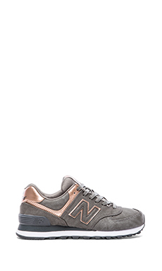 New Balance 574 Precious Metals Collection Sneaker in Silver