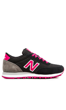 New Balance Classics Core Collection in Black & Pink