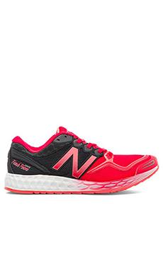 New Balance Fresh Foam Zante Sneaker in White & Pink