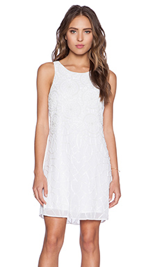 New Friends Colony Shift Dress in White