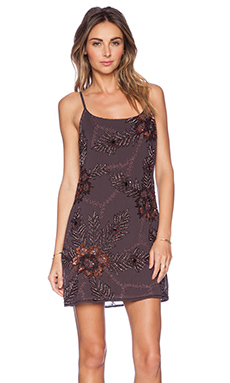 New Friends Colony Beaded Cami Dress in Bark