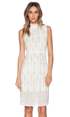 New Friends Colony Beaded Dress in Ivory