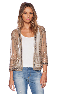New Friends Colony Embellished Kimono in Beige