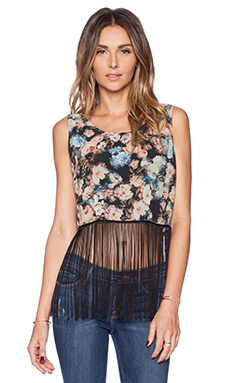 New Friends Colony Floral Fringe Tank in Multi