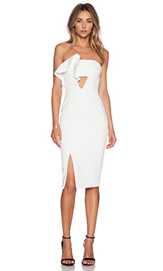 NICHOLAS Ruffle Dress in White