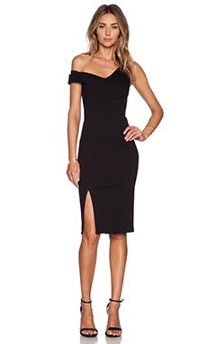 NICHOLAS One Shoulder Dress in Black