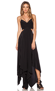 NICHOLAS Scarf Hem Dress in Black