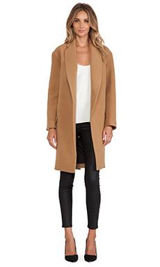 NICHOLAS Felted Wool Full Length Coat in Camel