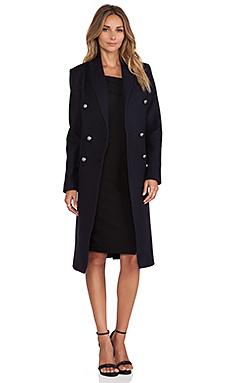 NICHOLAS Wool Double Breasted Coat in Nav