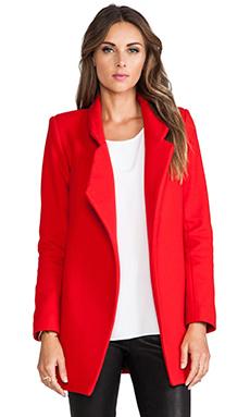 NICHOLAS Felted Wool Coat in Neon Red