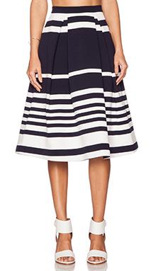 NICHOLAS Positano Stripe Ball Skirt in Navy
