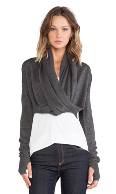 Nicholas K Zella Sweater in Heather Grey