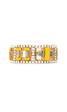 Nicole Meng Plumeria Bracelet in Gold
