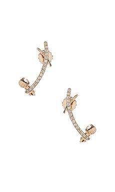 Nicole Meng Cross Curve Ear Cuff in Gold