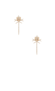 Nicole Meng Parallel Lines Earrings in Gold