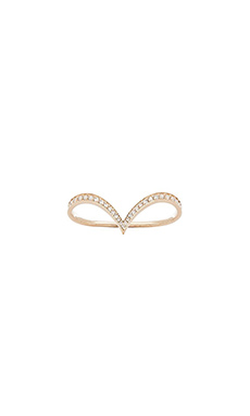 Nicole Meng Arc Ring in Gold