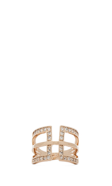 Nicole Meng Polyline Ring in Gold