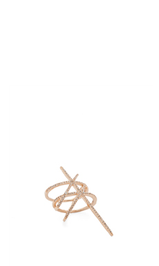 Nicole Meng Parallel Lines Ring in Gold