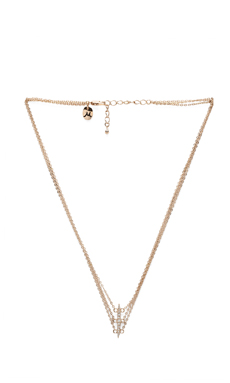 Nicole Meng 3 Extend Lines Necklace in Gold