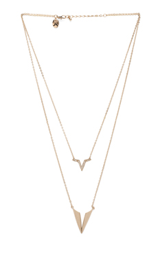 Nicole Meng Segment Necklace in Gold