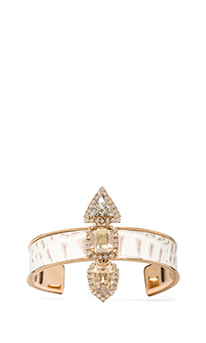 Nicole Meng Palace Cuff in Gold & Crystal
