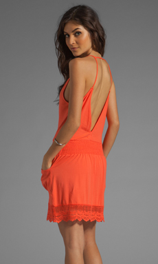 Nightcap Seychelles Dress in Hot Orange