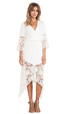 Nightcap Calypso Crochet Dress in Natural