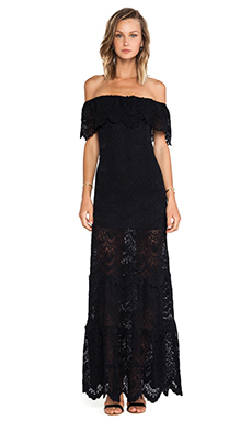 Nightcap Positano Maxi Dress in Black