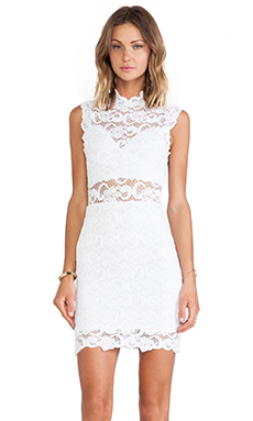 Nightcap Dixie Lace Cutout Dress in White
