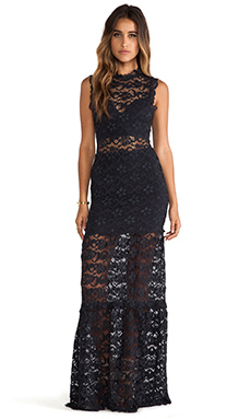 Nightcap Dixie Lace Cutout Maxi in Charcoal