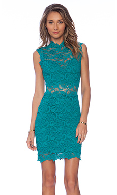 Nightcap Dixie Cut Out Mini Dress in Emerald