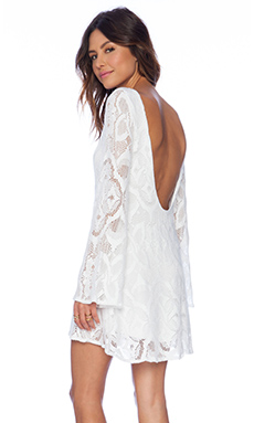 Nightcap Crochet Priscilla Dress in White