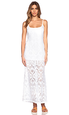 Nightcap Crochet Day Gown in White