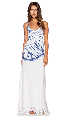 Nightcap Hand Dye Maxi Dress in Navy & White